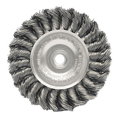WEILER Standard Twist Knot Wire Wheels, 0.014 Wire