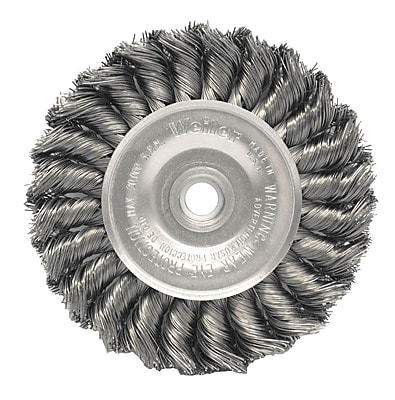 WEILER Standard Twist Knot Wire Wheels, 0.011