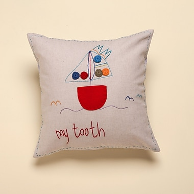 Jacaranda Living Jacaranda Living ''My Tooth'' Living Life Cotton Throw Pillow