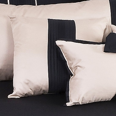 Charister Tux Throw Pillow; Black with Pewter Band