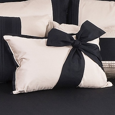Charister Tux Solid Throw Pillow; White