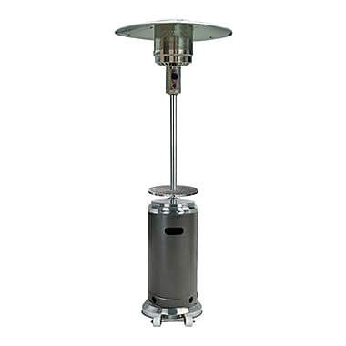 AZ Patio Heaters Tall 41,000 BTU Propane Patio Heater; Hammered Silver and Stainless Steel