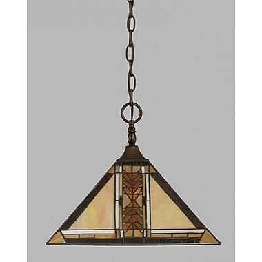 Toltec Lighting 1-Light Pendant; Matte Black