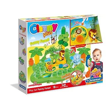 Clementoni Clemmyplus, Funny Forest Set, 26 Pieces