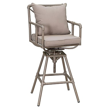 Home Loft Concepts Albert Adjustable Height Patio Bar Stool w/ Cushion