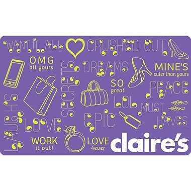 Claire's, $20 Gift Card