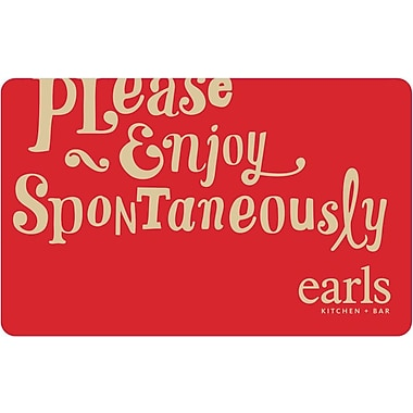 Earls Restaurant – Carte-cadeau de 25 $