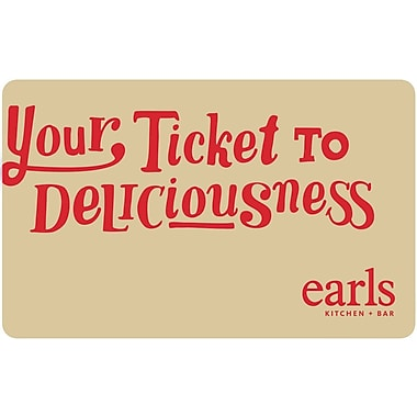 Earls Restaurant – Carte-cadeau de 50 $