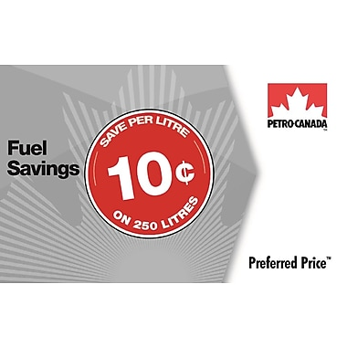Petro-Canada Preferred Price card - $25 (save 10¢ per litre on 250 litres of fuel)