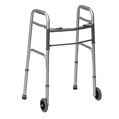 Dmi Aluminium Folding Walker, Silver