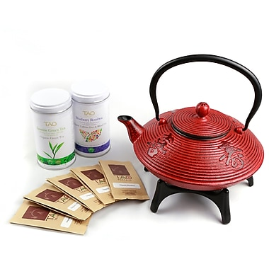 Tao Tea Leaf Cast Iron Tea Pot Gift Set 1.15L
