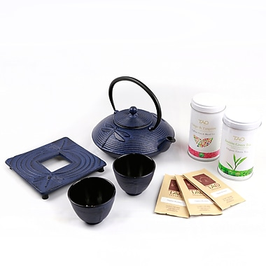 Tao Tea Leaf Cast Iron Tea Pot and Cup Gift Set 0.8L