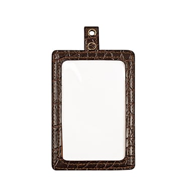 Cosco® MyID™ Crocodile Brown ID Badge Holder for Key Cards and ID Cards, 4