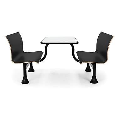 OFM Rectangular Table with Middle Frame Retro Bench