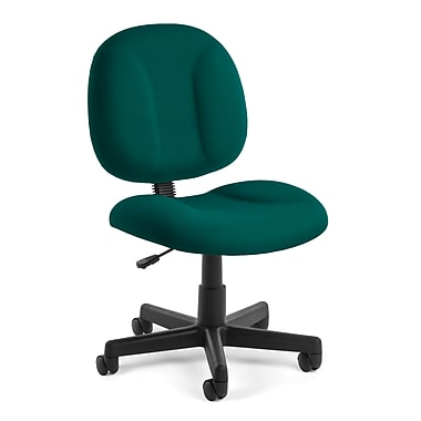 OFM Comfort Fabric Computer and Desk Office Chair, Armless, Teal (811588012459)