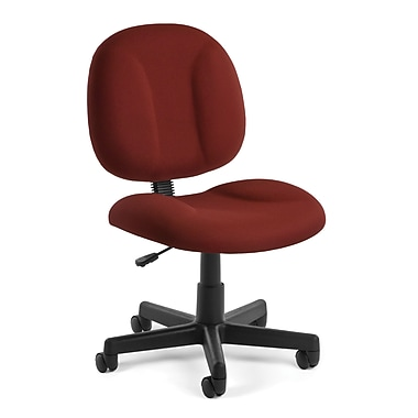 OFM – Fauteuil d'ordinateur et de bureau en tissu Comfort, sans accoudoirs, vin (811588012466)