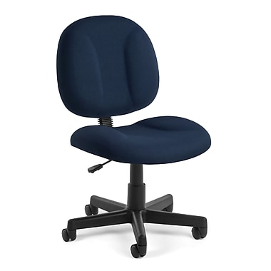 OFM Comfort Fabric Computer and Desk Office Chair, Armless, Navy (811588012473)