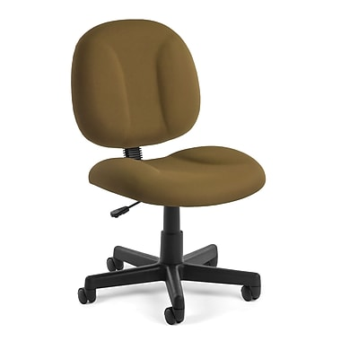 OFM Comfort Fabric Computer and Desk Office Chair, Armless, Taupe (811588012497)