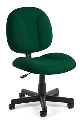OFM Comfort Series Superchair Armless Fabric Task Chair, Green, (105-807)