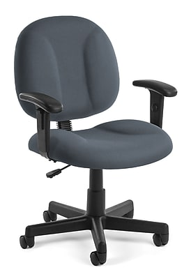 OFM Comfort 105-AA-801 Fabric Task Chair with Arms, Gray