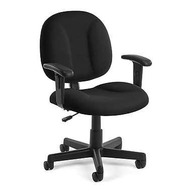OFM Comfort 105-AA-805 Fabric Task Chair with Arms, Black (845123010969)