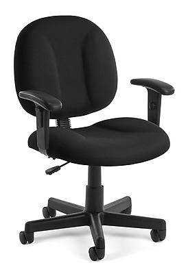 OFM Comfort 105-AA-805 Fabric Task Chair with Arms, Black
