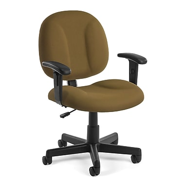 OFM Comfort 105-AA-806 Fabric Task Chair with Arms, Taupe (845123010976)