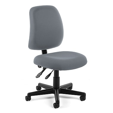 OFM Posture Fabric Computer and Desk Office Chair, Armless, Gray (811588012558)