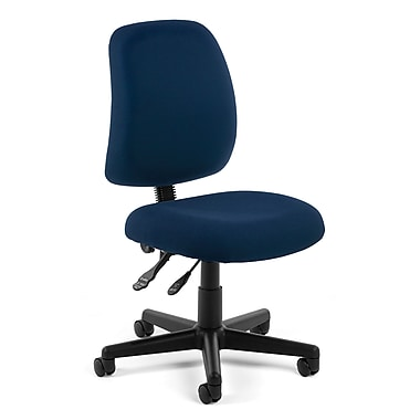 OFM Posture Fabric Computer and Desk Office Chair, Armless, Navy (811588012589)