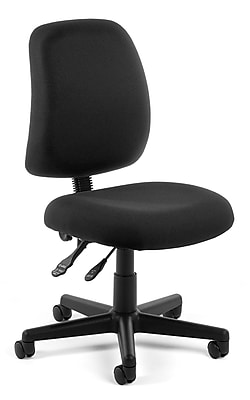 OFM Posture Fabric Computer and Desk Office Chair, Armless, Black (811588012596)