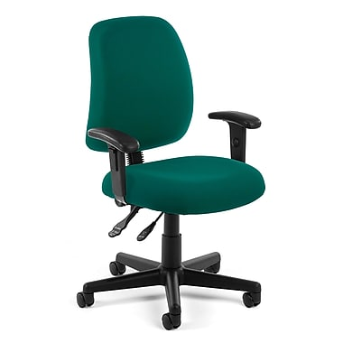 OFM Posture Fabric Computer and Desk Office Chair, Adjustable Arms, Teal (845123011157)