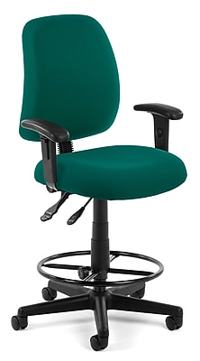 OFM Posture 118-2-AA-DK-802 Fabric Task Stool with Arms, Teal
