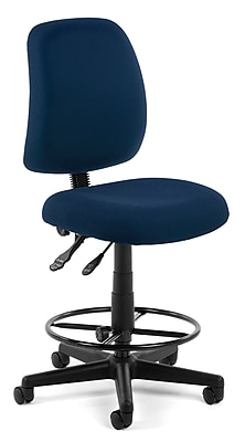 OFM Posture 118-2-DK-804 Fabric Task Stool, Navy