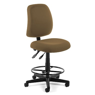OFM Posture 118-2-DK-806 Fabric Task Stool, Taupe (845123011331)
