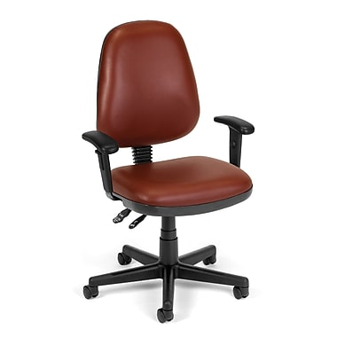OFM Straton 119-VAM-AA-603 Anti-Microbial, Anti-Bacterial Vinyl Task Chair With Arms, Wine (845123011416)