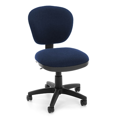 OFM Lite Use Fabric Computer and Desk Office Chair, Armless, Blue (845123028933)