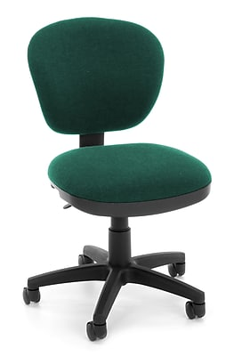OFM Lite Use Fabric Computer and Desk Office Chair, Armless, Teal (845123028940)