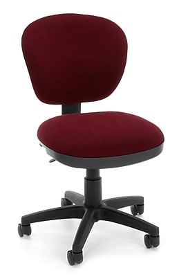 OFM Lite Use Fabric Computer and Desk Office Chair, Armless, Burgundy (845123028957)