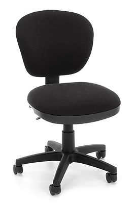OFM Lite Use Fabric Computer and Desk Office Chair, Armless, Black (845123028964)