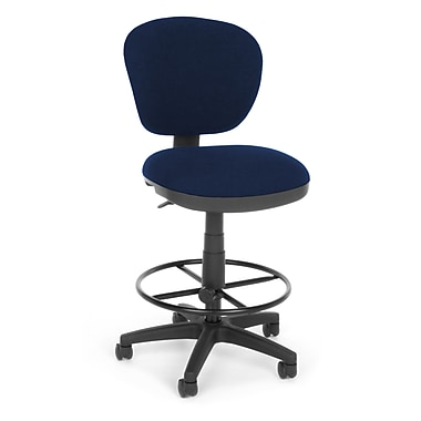 OFM Fabric Computer Task Stool, Blue, Lite Use (845123011898)