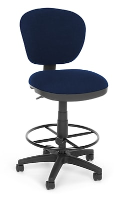 OFM Fabric Computer Task Stool, Blue, Lite Use 150-DK-119