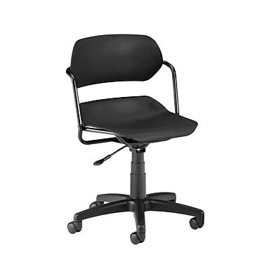 OFM Martisa Plastic Computer and Desk Office Chair, Armless, Black (845123011942)