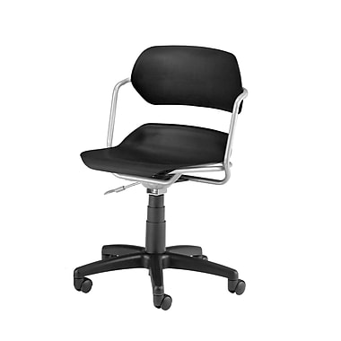 OFM Martisa Plastic Computer and Desk Office Chair, Armless, Black (845123012031)