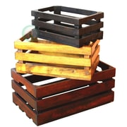 Quickway Imports 3 Piece Decorative Crate Set