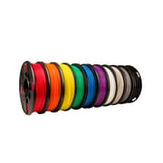 True Color Small PLA Filament 10 Pack (Black, White, Red, Orange, Yellow, Green, Blue, Purple, Warm Gray, Cool Gray)