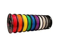 True Color Small PLA Filament 10 Pack (Black, White, Red, Orange, Yellow, Green, Blue, Purple, Warm Gray, Cool Gray)