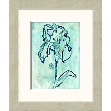 Blue Flowers 1 Framed Art, 20