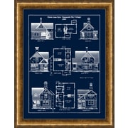"Queen Anne Cottages Framed Art, 22"" x 28"""