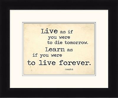 Inspirational Quote 3 Framed Art, 24