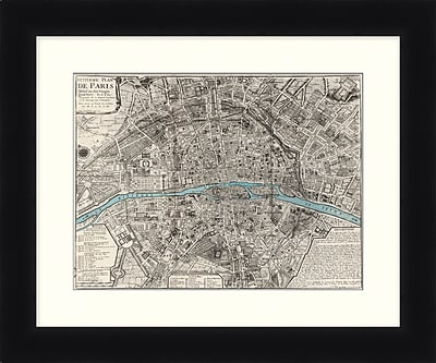 Plan De Paris Framed Art, 24